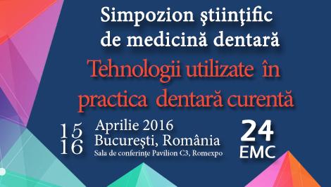 Simpozion Ştiinţific de Medicină Dentară – 14-16 Aprilie, Romexpo, Bucuresti