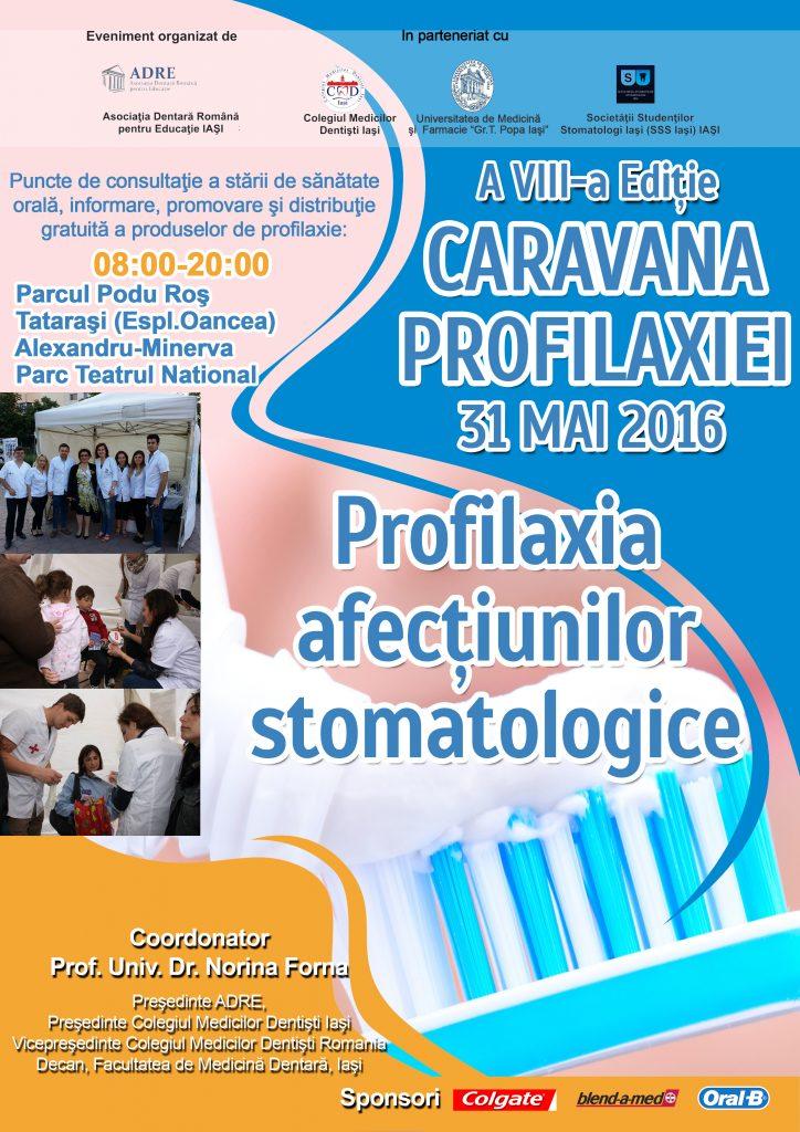 Editia a VIII-a  a Caravanei Profilaxiei – Profilaxia afectiunilor stomatologice
